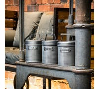 Industrial Kitchen Vintage-Style Metal Tea Caddy