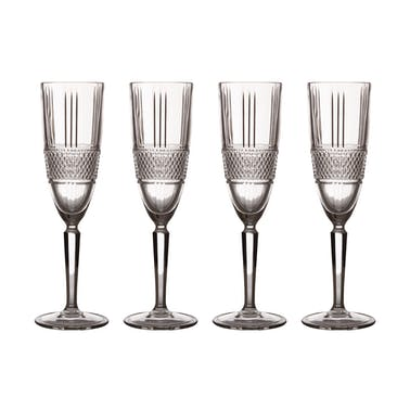Maxwell & Williams Verona Set of Four 150ml Champagne Flutes