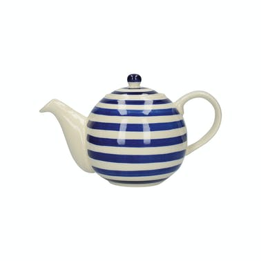 London Pottery Globe® 4 Cup Teapot Blue Bands