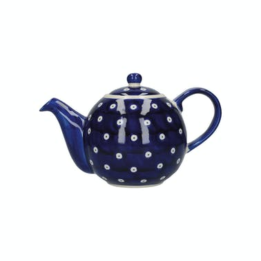 London Pottery Globe® 4 Cup Teapot Blue And White Circle