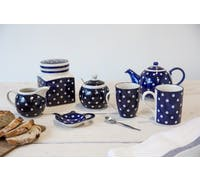London Pottery Tea Bag Tidy Blue and White Circle