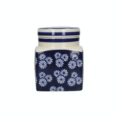 London Pottery Ceramic Canister Small Daisies