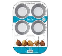 KitchenCraft Non-Stick Six Hole Baking Pan