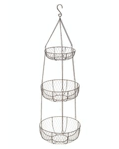 Photo of Classic Collection Wire Three Tier Hanging Storage Baskets
