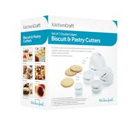 KitchenCraft Set of Seven Plastic Double Edged Biscuit / Pastry Cutters