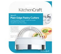 KitchenCraft Set of Three Plain Pastry Cutters