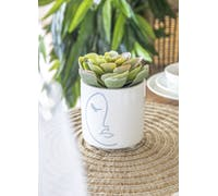KitchenCraft Mini Planter with Abstract Face Design