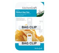 KitchenCraft Set of 2 Medium Plastic Bag Clips
