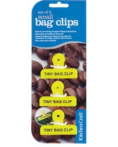 Photo of KitchenCraft Set of 3 Small Plastic Bag Clips
