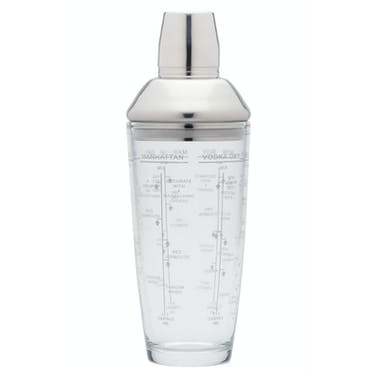 BarCraft 700ml Glass Boston Cocktail Shaker
