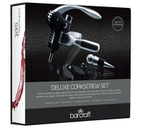 BarCraft Deluxe Lever-Arm Corkscrew Gift Set