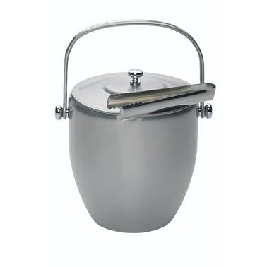 BarCraft Stainless Steel Ice Bucket with Lid and Tongs