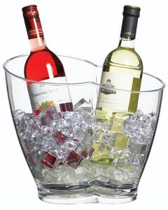 Photo of BarCraft Clear Acrylic Double Sided Drinks Pail / Cooler