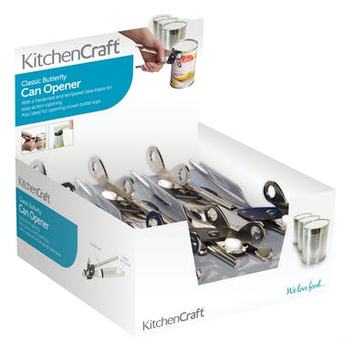 KitchenCraft Display of 12 Butterfly Style Can Openers