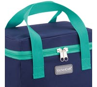 KitchenCraft Lunch Navy and Green 5 Litre Cool Bag