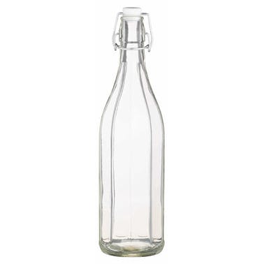KitchenCraft Glass 1 Litre Oil Bottle With Pop Stopper