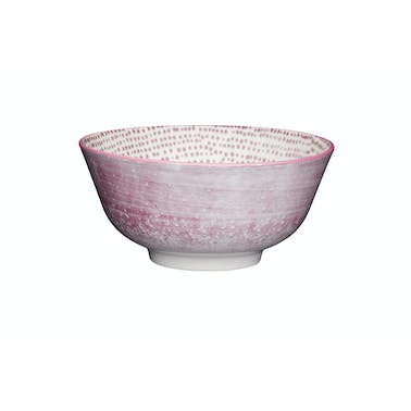 KitchenCraft Purple Watercolour Ceramic Bowls