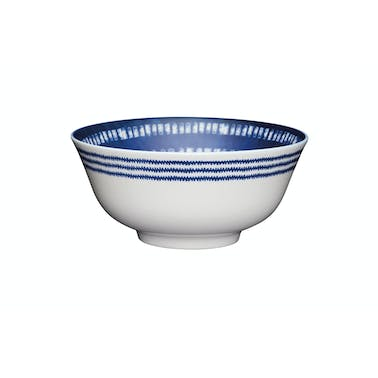 KitchenCraft Blue and White Greek Style Ceramic Bowls