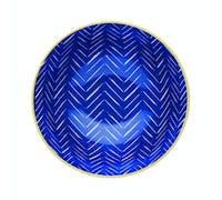 KitchenCraft Contrasting Blue Chevron and Spotty Ceramic Bowls