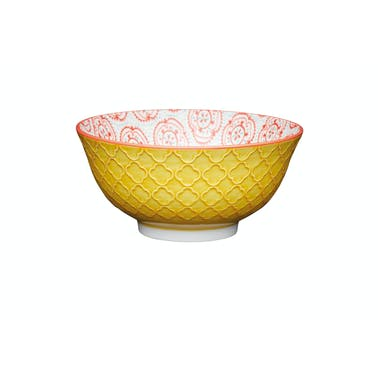 KitchenCraft Bright Yellow Floral Ceramic Bowls