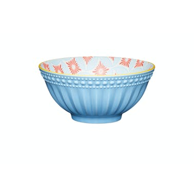 KitchenCraft Pale Blue Detailed Ceramic Bowls