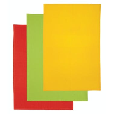KitchenCraft Set of 3 Bright Coloured Tea Towels