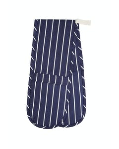 Photo of KitchenCraft Blue Butcher's Stripe Double Oven Glove