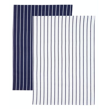 KitchenCraft Butchers Stripe Set of 2 Tea Towels