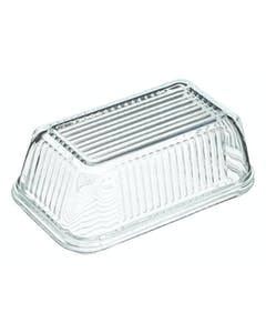 Photo of KitchenCraft Glass Embossed Vintage Style Covered Butter Dish