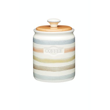Classic Collection Striped Ceramic Coffee Storage Jar