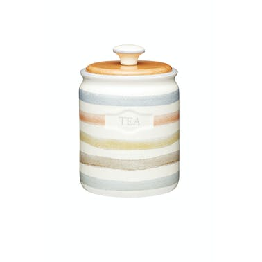 Classic Collection Striped Ceramic Tea Caddy
