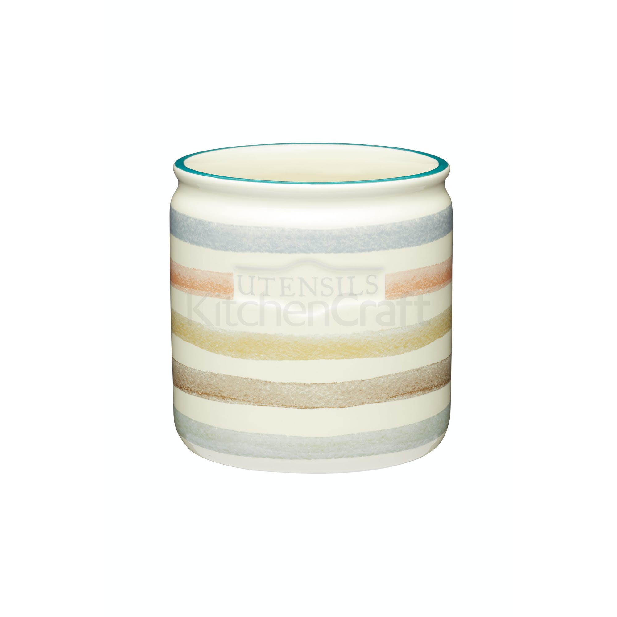 Classic Collection Striped Ceramic Kitchen Utensil Holder ...