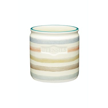 Classic Collection Striped Ceramic Kitchen Utensil Holder