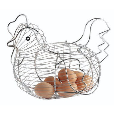 KitchenCraft Chrome Plated Wire Large Chicken Basket