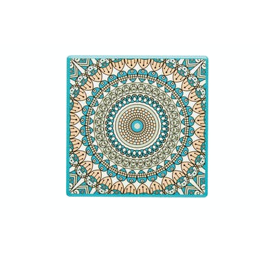 KitchenCraft Moroccan Inspired Green Mandala Ceramic Coaster