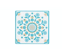 KitchenCraft Moroccan Inspired Green Floral Ceramic Coaster