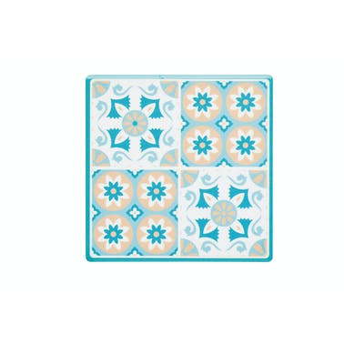 KitchenCraft Moroccan Inspired Green Tile Ceramic Coaster