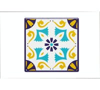 KitchenCraft Moroccan Inspired Mustard Motif Ceramic Coaster