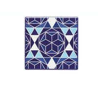 KitchenCraft Moroccan Inspired Blue Geo Ceramic Coaster
