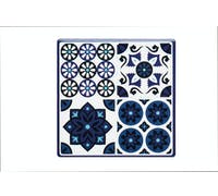 KitchenCraft Moroccan Inspired Blue Tile Ceramic Coaster