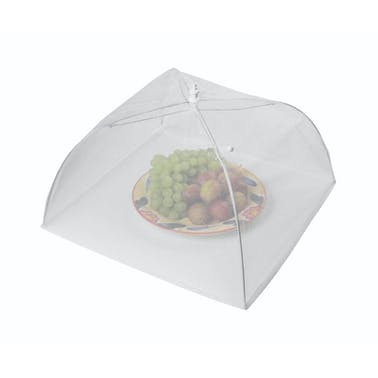 KitchenCraft 30cm White Umbrella Food Cover