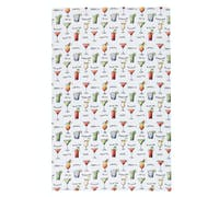 KitchenCraft Patterned Tea Towels - Cocktail Menu