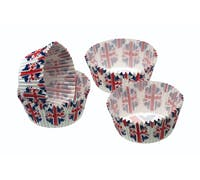 Sweetly Does It Pack of 80 Union Flag Mini Cake Cases