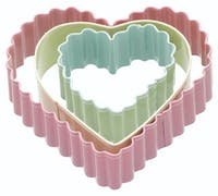 Sweetly Does It Set of 3 Heart Shaped Cookie Cutters