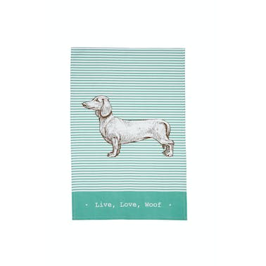 KitchenCraft Set of 2 Dachshund Tea Towels