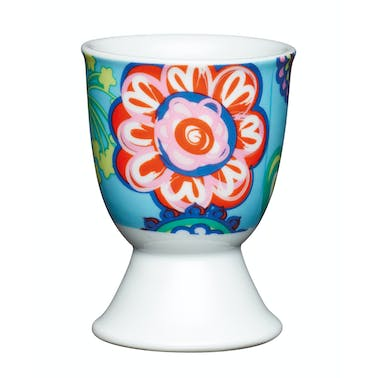 KitchenCraft Porcelain Bright Flower Egg Cup