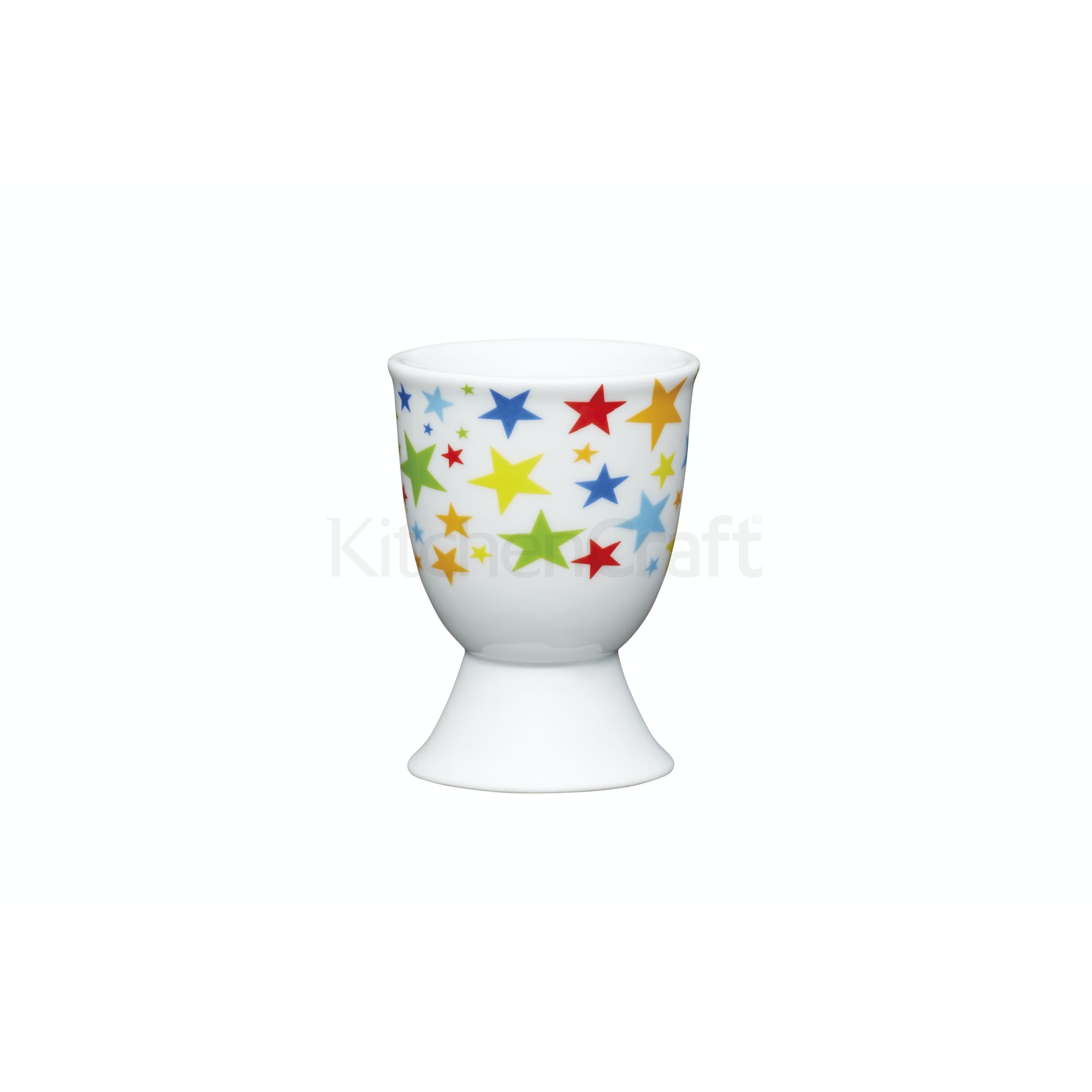Kitchencraft Brights Stars Porcelain Egg Cup Egg Cups Eating