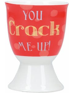 Photo of KitchenCraft Porcelain 'You crack me up'  Egg Cup