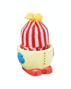 Photo of KitchenCraft Ceramic 'Keep-Me-Warm' Novelty Egg Cup with Knitted Egg Cosy Hat