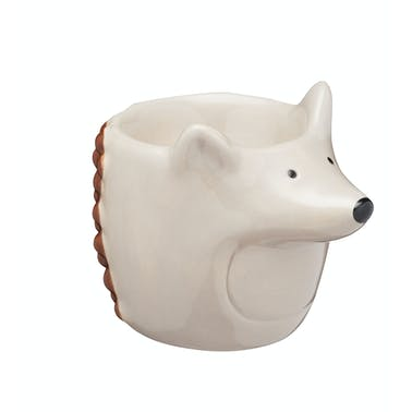 KitchenCraft Ceramic Hedgehog-Shaped Novelty Egg Cup
